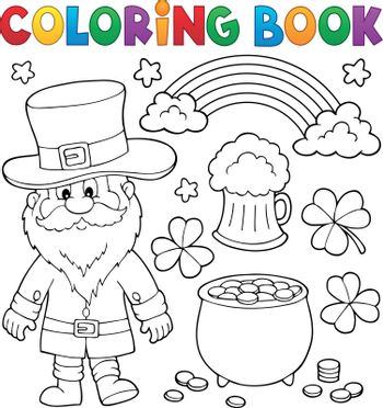 Coloring book St Patricks Day set 1 - eps10 vector illustration.