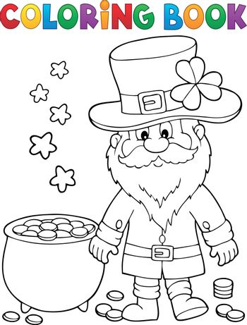 Coloring book St Patricks Day theme 2 - eps10 vector illustration.