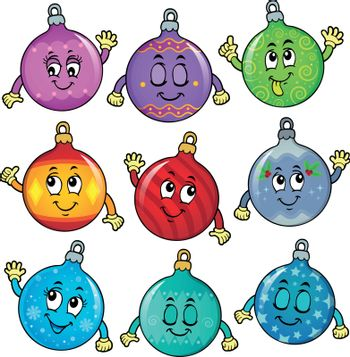 Happy Christmas ornaments theme image 6 - eps10 vector illustration.