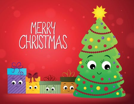 Merry Christmas composition image 2 - eps10 vector illustration.