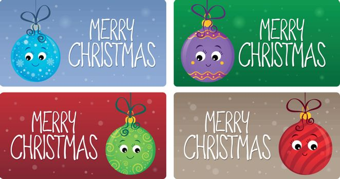 Merry Christmas theme cards 2 - eps10 vector illustration.