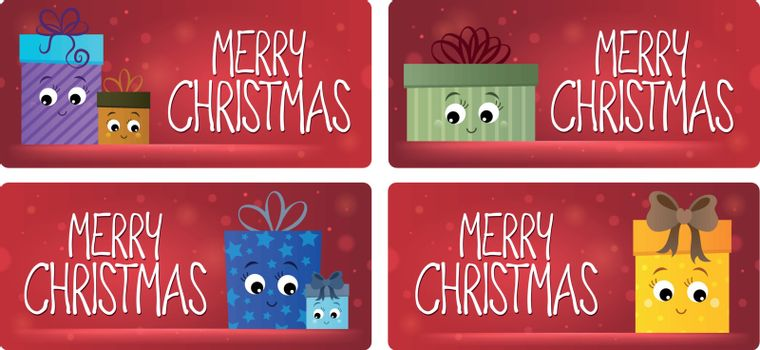 Merry Christmas theme cards 3 - eps10 vector illustration.