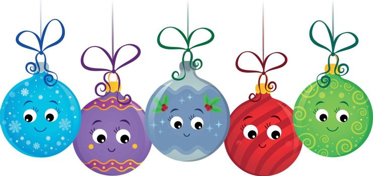 Stylized Christmas ornaments image 1 - eps10 vector illustration.