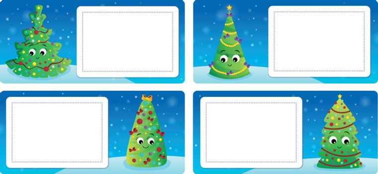 Stylized Christmas theme cards 3 - eps10 vector illustration.