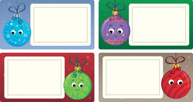 Stylized Christmas theme cards 4 - eps10 vector illustration.