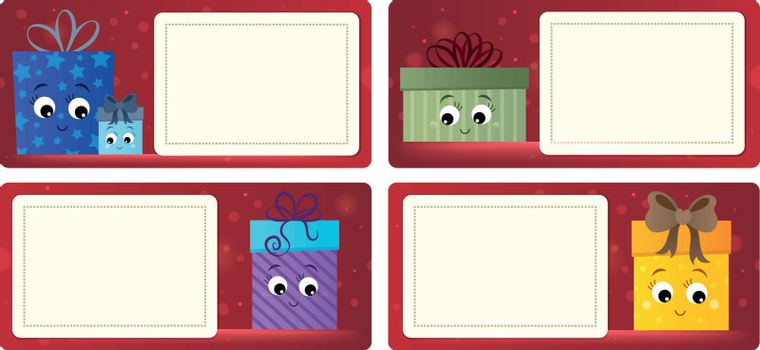 Stylized Christmas theme cards 5 - eps10 vector illustration.