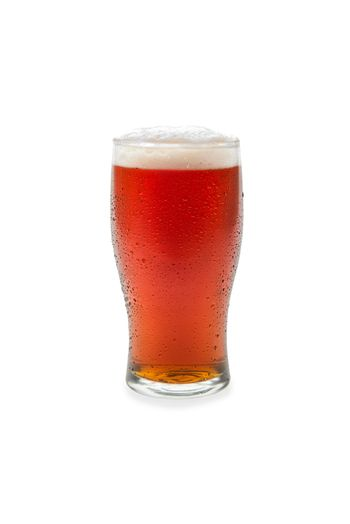 Amber Ale In Pint Glass #1