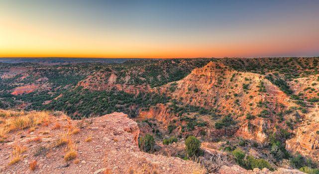 Sunrise at Palo Duro Canyon, TX