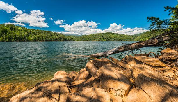 Fontana Lake With The Smoky Mountains 1