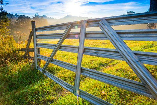 Old Farm Gate, Close-up.