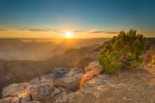 Sunset at Point Sublime, Grand Canyon National Park, AZ