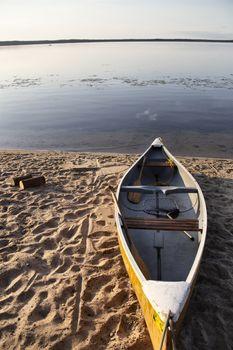 Sunrise Saskatchewan North canoe