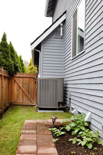 Home heat pump for heat and air condition