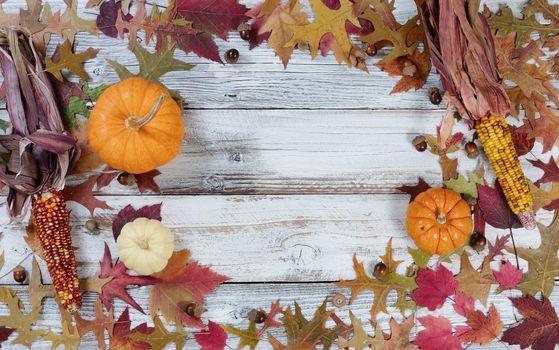 Circle border of Autumn Seasonal Decorations