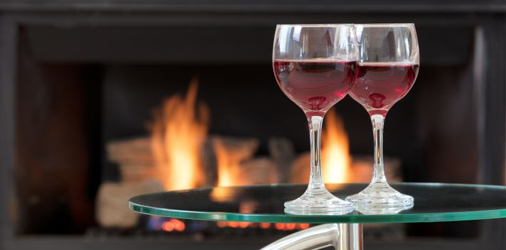 Red wine for the romantic occasion
