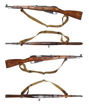Mosin carbine different views