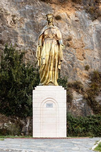 a full body shoot from golden mother mary statue - detailed and nice looking shoot. photo has taken from izmir/turkey.