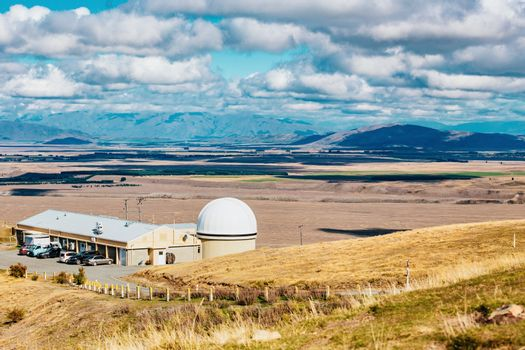 Mount John observatory at Lake Tekapo, south island New Zealand