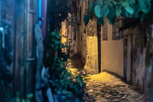 a night shoot from a street at an old village named sirince. photo has taken at izmir/turkey.