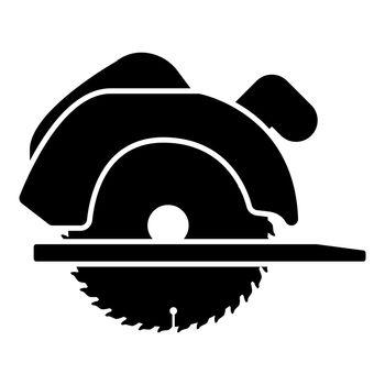 Manual circular saw icon black color