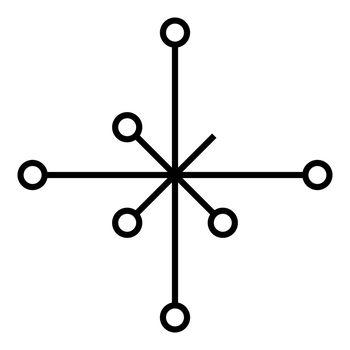Helm of awe aegishjalmur or egishjalmur galdrastav icon black color vector illustration flat style image