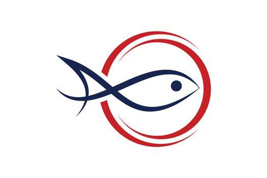 Fishing logo template Fishing Logo Icon unique fishing-related logo simple memorable vector editable