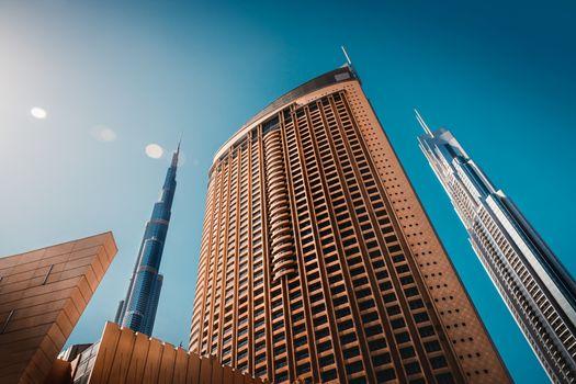 Luxury downtown of Dubai