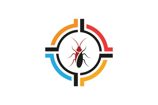 Insect killer logo Insect logo design