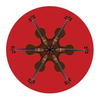 Fiddle Mandala Pattern