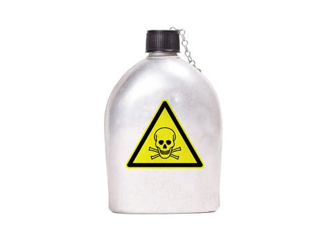 Vintage army canteen - Poison