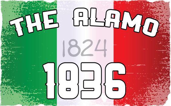 Alamo Flag and Date