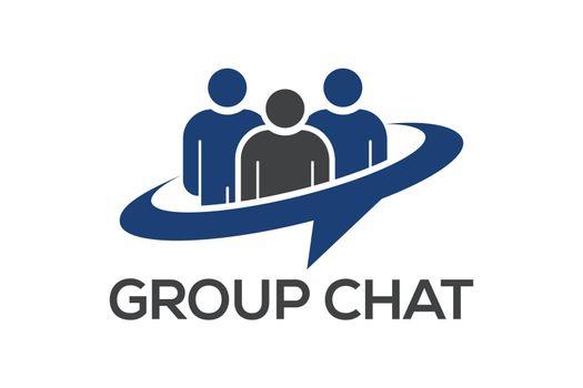 Group Chat logo symbol, People logo
