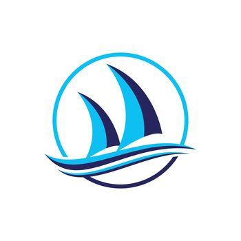 Ship logo nautical sailing boat icon vector design boat ship sea logo Cruise ship Logo Template vector icon illustration design