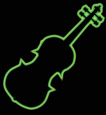 Fiddle Neon Outline