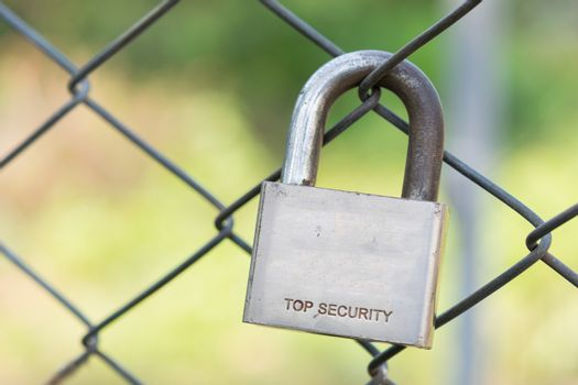 Master key lock the fence