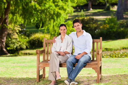 Couple on the bench