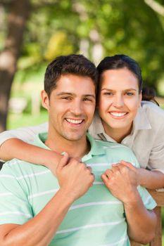 Woman huging her boyfriend
