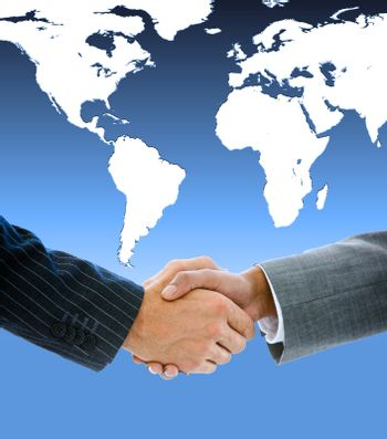 Close up of a business people shaking hands