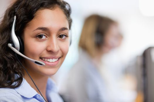 Close up of a customer assistant