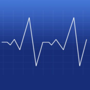 Heartbeat being designed by a white line