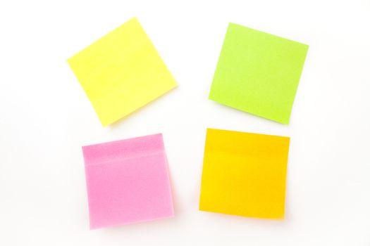 Many adhesive notes