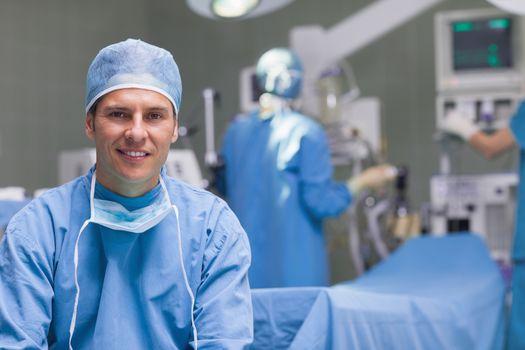 Smiling practitioner