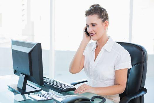 Classy businesswoman having a phone call