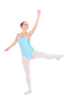 Unsmiling pretty ballerina training