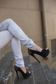 Sexy woman legs in high heels