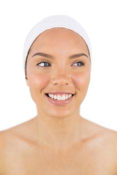 Smiling woman wearing a headband