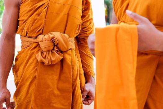 Yellow robe of Buddhist monks