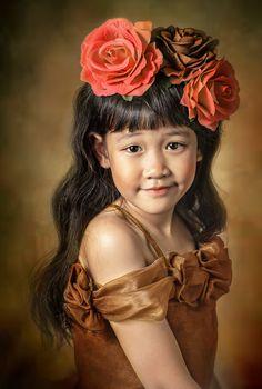 portrait of asian little  girl