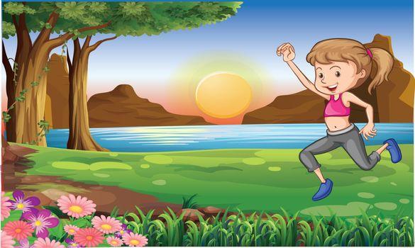 girl runing