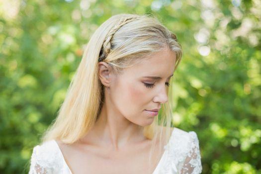 Content beautiful bride